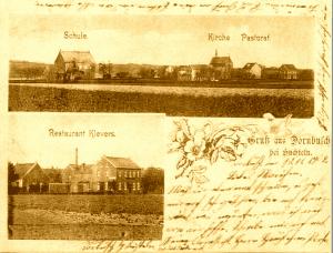 Postkarte aus Dornbusch Anno 1902